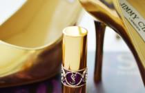 Hiding behind a YSL lipstick